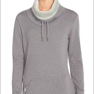 Grey bench high collared pull over. Size large